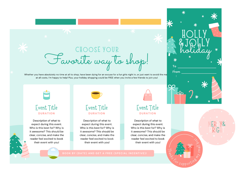 Holiday Bundle Color Scheme Examples 1